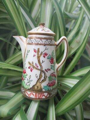 INDIAN TREE COALPORT HP TOY MINIATURE COCOA COFFEE POT repaired