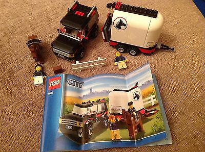 Lego 7635 4WD  with horse trailer and jockey complete with instructions