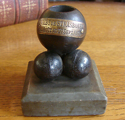 Siege of Strasbourg 1870 Trench Art Paperweight / Inkwell