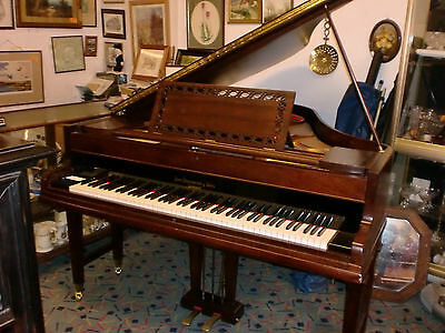 "BROADWOOD  overstrung ROLLER grand 5ft 8""mohogany good con can deliver £995 buy"