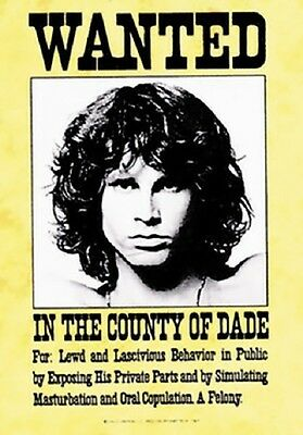 Jim Morrison The Doors Wanted Fabric Poster