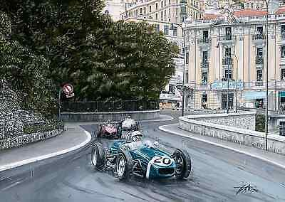 Sir Stirling Moss 1961 Monaco Grand Prix Hand Signed Limited Edition F1 Print