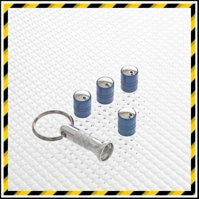 Blue Richbrook Spinning Anti-Theft Care Tyre Valve Dust Caps