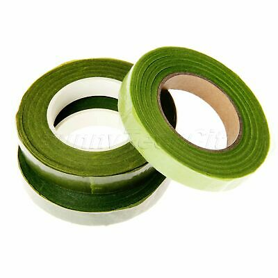 12mm Florist Stem Tape Wire DIY Floral Work Flower Stamen Wrinkle Paper Green