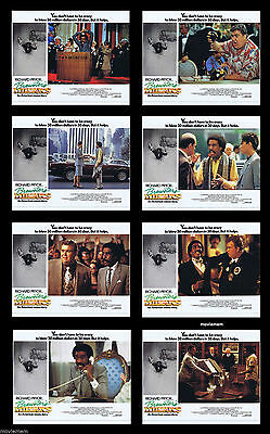 """8 x Brewster's Millions (1986) UK Colour FOH 11"""" x 14"""" Lobby Cards"""