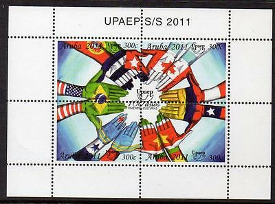Aruba MNH 2011 The 100th Anniversary of UPAEP M/S