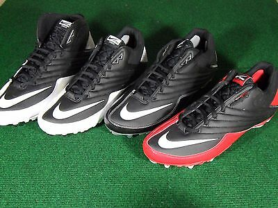 New Mens Nike Super Speed TD Low & 3/4 Football Cleats Black Silver Red White