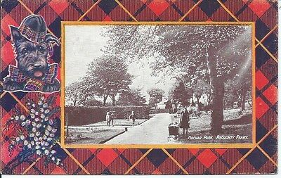 BROUGHTY FERRY Early Postcard Orchar Park Tartan