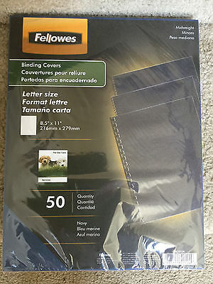 Fellowes Binding Covers 8.5 X 11 Navy 50Pk