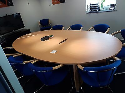 Oval Boardroom/Conference Table in Beech