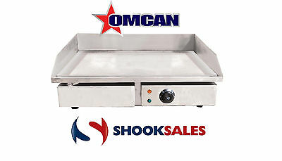 """Omcan 34869 Commercial Restaurant Stainless Steel Electric Griddle 21.75""""x13.7"""""""