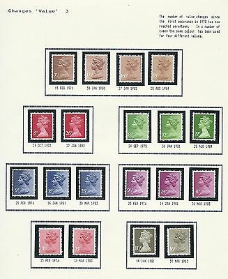 Collection Of Machin Postal Rates Superb Unmounted Mint