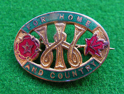 WOMENS INSTITUTE FOR HOME AND COUNTRY ENAMEL BADGE - Fattorini 1908/1928
