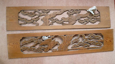 Japanese carved wooden decorative panels (Antique shop bought) Screens cost £500