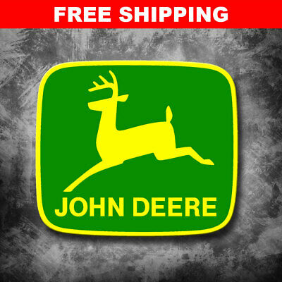 "Large 10"" John Deere Tractor Implement Cart Gator Logo Green/Yellow Decal"