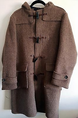 Men's Vintage/retro Traditional English Duffle Coat - Large, Camel Brown, 4 Togs