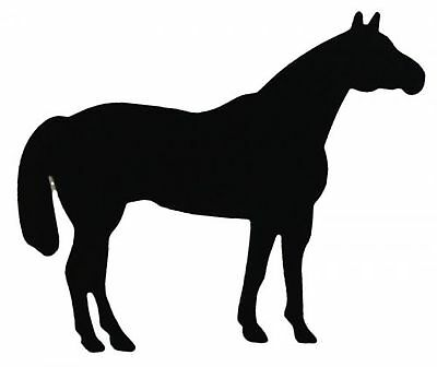 """Black Large Standing Horse Magnet for vehicle or trailer. Measures 14""""x 11""""!"""