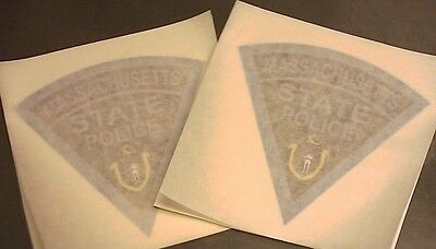 "(2) 3"" Massachusetts State Police Decals / Stickers MSP"