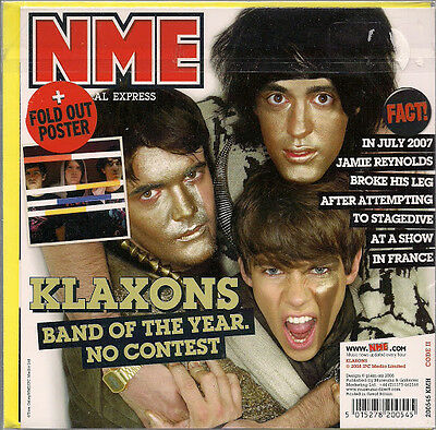 Klaxons NME Birthday /Greeting Card +Fold Out Poster 2008 New Sealed UK