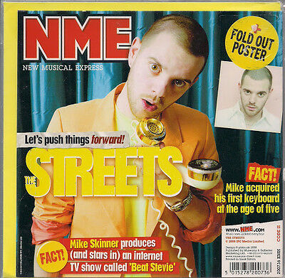 Streets  NME Birthday /Greeting Card +Fold Out Poster 2008 New Sealed UK