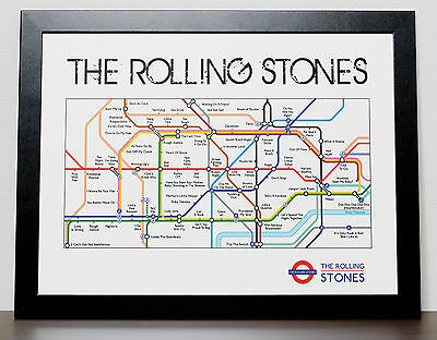 The Rolling Stones London Tube Subway Poster