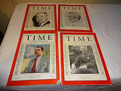 4 Time Magazines  From 1932-1938