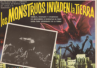 INVASION OF THE ASTRO-MONSTER  Mexican/Spanish? Lobby Card Film/Movie Poster