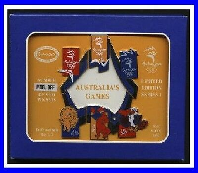 1# * LIMITED EDITION SYDNEY 2000 OLYMPIC GAMES* Australia's Games Box Pin Set *
