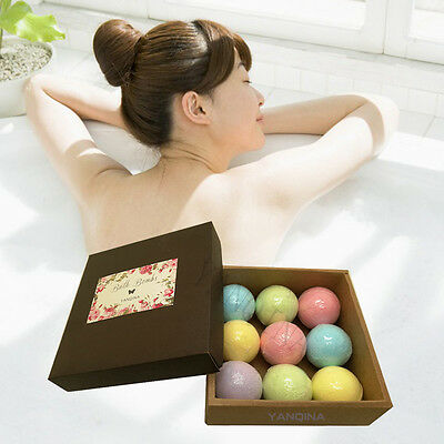 YANQINA Essential Oil Bath Bombs Gift Box Body Scrub Moisturing Bath Fizzies