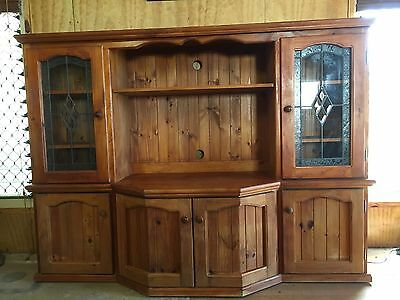 Stained timber TV entertainment cabinet