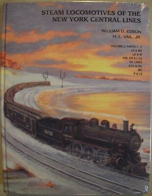 BOOK –   STEAM LOCOMOTIVES OF THE NEW YORK CENTRAL LINES VOL 2 by EDSON & VAIL