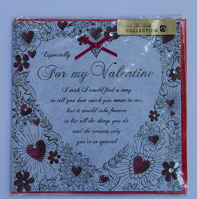 *NEW* *SEALED* Valentines Day Card - For My Valentine - John Sands Collection