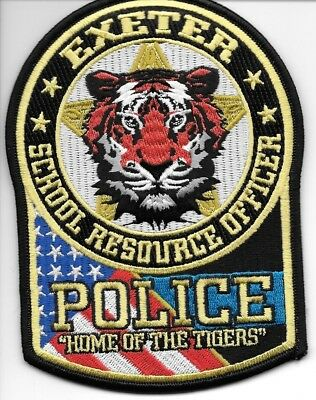"Exeter  School R.O., Missouri (3.75"" x 5.25"" size) shoulder police patch (fire)"