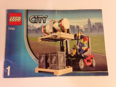 LEGO 7733 Instructions Book 1 Only Forklift Truck City Town Train