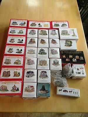Lot of 45 Liberty Falls Christmas Buildings Houses Ornaments