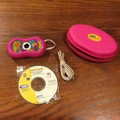 Crayola Pink Digital Kids Camera With Case And Software