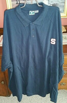 North Carolina State Men's Plus size Heavyweight Embroidered Polo Shirt NEW 6XL