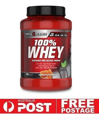 Total Science 100% WHEY 1kg HoneyComb | Protein WPI WPC Recovery Stevia