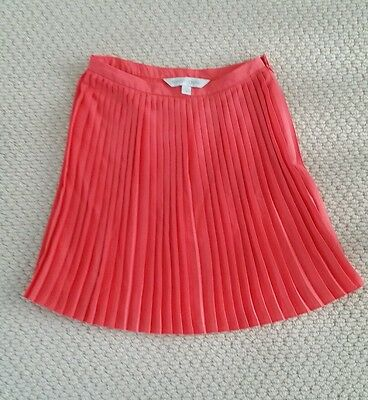 Forever New Pleated skirt Peach Girl's Size 12 or small adult 6