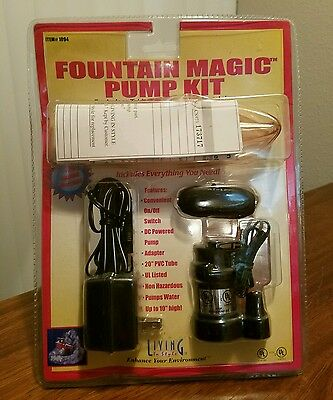 Living in Style Fountain Magic II Pump and Light Kit Indoor Table Top Fountains