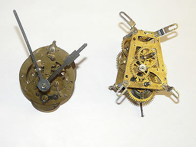 Vintage 1950s Wall Clock Small Movements - HAC and Unknown Brand for Repair