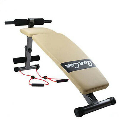 Folding Exercise Sit Up Bench Fitness Ab Decline Adjustable Situp Abdominal Gym