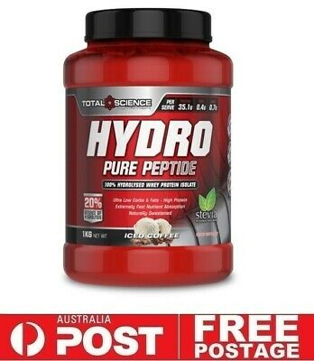 Total Science HYDRO 1kg Iced Coffee   Hydrolysed WPI Whey Protein Stevia