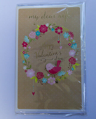 *NEW* *SEALED* Valentines Day Card - My dear wife, Happy Valentine's Day