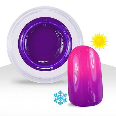 Gel UV Couleur Thermo Violet / Rose Fluo  - 5ml Manucure Ongles Nail Art