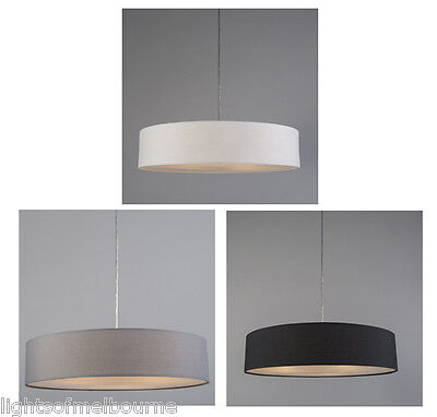 Mara Drum Pendant Light Black White or Grey