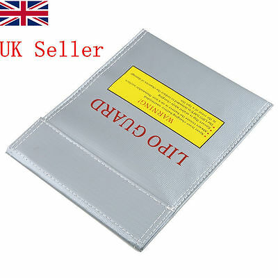UK STOCK Lipo Battery Charging Bag Fireproof Chargeve Bagck 18x23cm HT