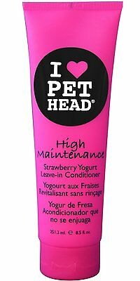 Pet Head High Maintenance Leave In Conditioner Strawberry Yogurt Dogs/Cats 8.5oz