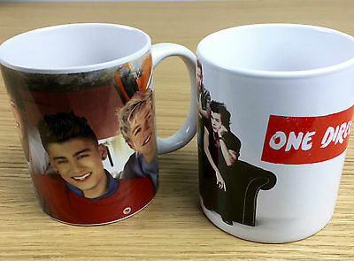 One Direction Collectable Mugs x 2 - NEW - 1D - Harry Styles & Co Cups