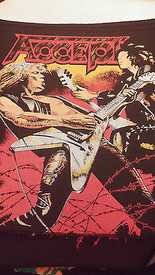Patch  Back Toppa   Heavy Metal Rock Group Accept   Vintage 80/90
